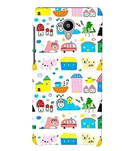 Printvisa Multicoloured Kiddish Pattern Back Case Cover for vivo V3