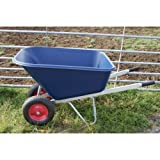 Twin Wheel Barrow- Large- 200Litre- Wheelbarrow, supplied assembled