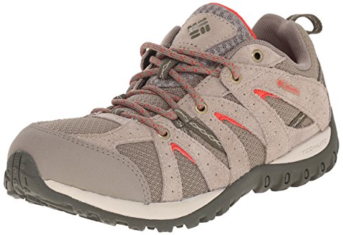 Columbia Women's Grand Canyon Trail Shoe, Pebble/Poppy Red, 7 B US