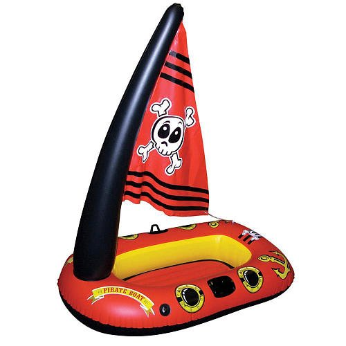 Poolmaster Inflatable Pirate Boat with Sail