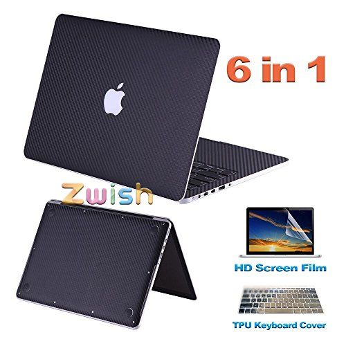 zwish-black-carbon-fiber-removable-6-in-1-ultra-thin-full-body-vinyl-art-skins-sticker-for-macbook-p