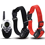 AGPtek®2 Dog Shock Training Collar with Remote Waterproof Rechargeable 1000 Yard Hunting