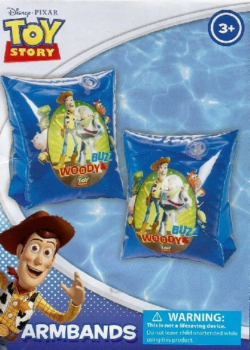 Disney Pixar Toy Story Buzz, Woody, & Crew Set of 2 Swimming Pool Arm Floats - 1