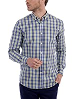 BLUE COAST YACHTING Camisa Hombre (Verde / Azul)