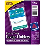 Avery Heavy-Duty Badge Holders for Inserts up to 4 x  3 Inches (74472), Pack of 25