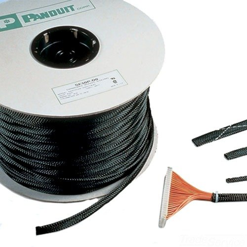 Panduit Se50P-Cr0 Braided Expandable Sleeving, 100-Feet, Black