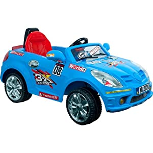 Lil' Rider Battery-Powered Blue Bomber Sports Car with Remote, Blue