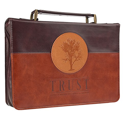 """Trust"" Three-Tone Bible / Book Cover - Jeremiah 17:7-8 (Medium)"