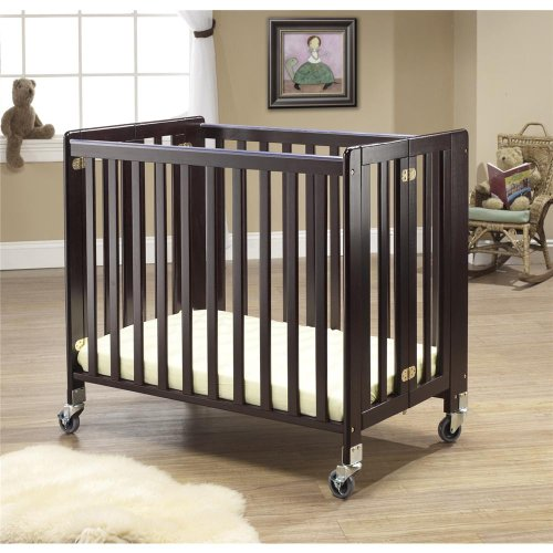 Orbelle Trading Lilly Commercially Rated Portable Crib, Espresso