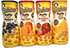 Gerber Graduates Apple Strawberry, Banana, Sweet Potato, Blueberry Puffs /pack of 4 1.48oz
