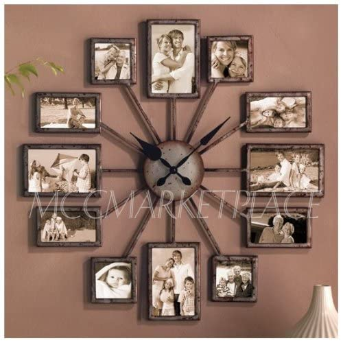 unique large wall clock photo family picture