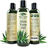 GreenLeafNaturals Green Leaf Naturals Aloe Vera Gel For Skin, Face And Hair, 8-Ounce