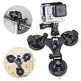 Erligpowht グレーター吸引力を持つ三サクションカップマウント+1/4Inch三脚マウントアダプタ+ Aステンレス製三脚ヘッドGoProヒーロー4、3+、3、2、1カメラ、SJ4000、SJ5000スポーツカメラやデジタルカメラ&小型ビ...