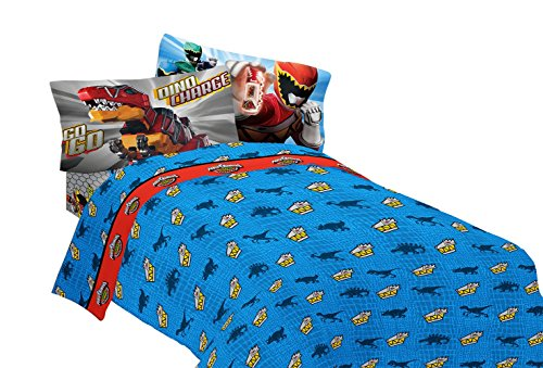 fun bedroom with a power rangers bedding set
