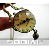 SODIAL(R) Vintage Style Glass Ball Steampunk Watch