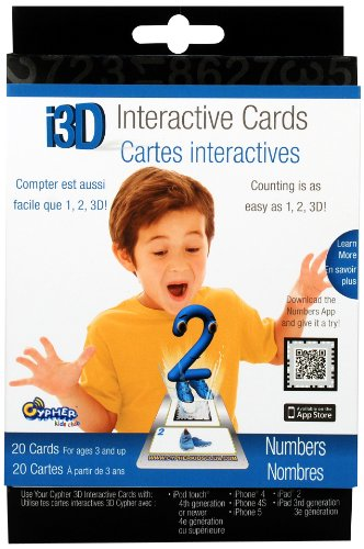 i3D Interactive Cards- Numbers - 1