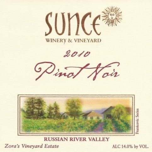 2010 Sunce Winery Pinot Noir Winemaker'S Reserve 750 Ml