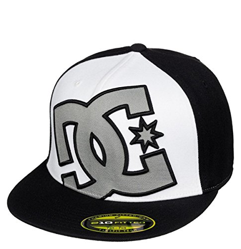 DC Men's Ya Heard Hat, Black/Monument, Large/X-Large