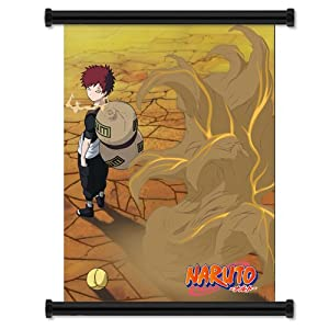 "Naruto Gaara Anime Fabric Wall Scroll Poster (16"" x 21"") Inches"