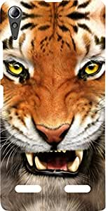 Dot Print Back Cover For Lenovo A6000 Plus Angry Tiger Printed Case