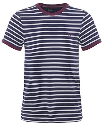Fred Perry Breton Stripe T-Shirt Blue