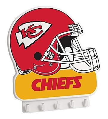 """NFL Kansas City Chiefs My Key Rack, 8.5"""" x 7.75"""", Red"""