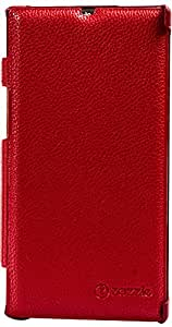 Purple Eyes Generic Zazzel Leather Finish Flip Case Cover For Sony Xperia Z L39h (Red)