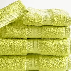 bouchara collection serviette de toilette eponge unie vert angelique 50x100 cm amazon. Black Bedroom Furniture Sets. Home Design Ideas