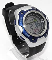 Ravel  Mens Digital LCD Chronograph Sports Watch - Gift Boxed - Multi Functional- 15-22cm Strap - 3ATM (g)