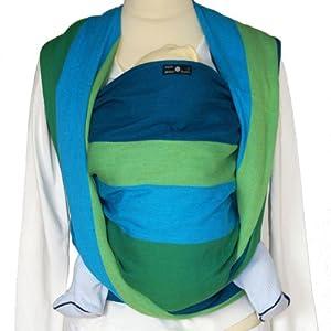 Didymos Baby Carrier Organic Wrap Sling, Iris, Size 6