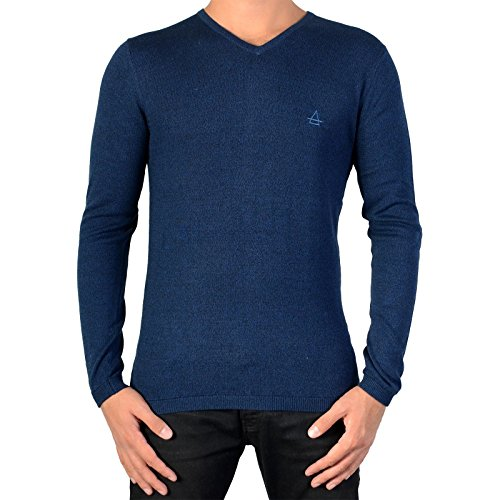 Eleven Paris -  Maglione  - Felpa - Uomo blu Medium