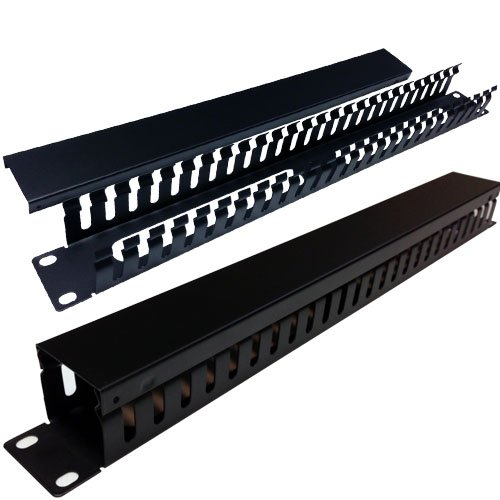 """19"""" Universal Horizontal Cable Managers (25 Slot Manager (Small Slots))"""