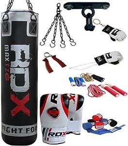 RDX 9P Profi-Box-Satz 122cm/152cm gefüllter schwerer Boxsack Satz, Handschuhe, Halterung Kick MMA,