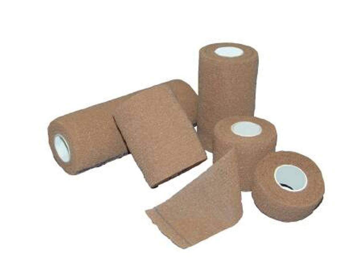 Medi-Pak Performance Non-Sterile Elastic with Cohesive Compression Bandages 3 Inch X 5 Yard - Case of 24 Rolls