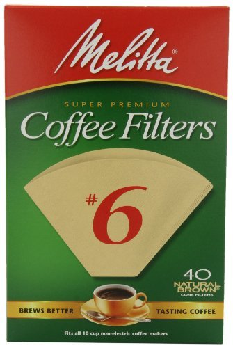 Melitta Cone Coffee Filters, Natural Brown, No. 6, 40-Count Filters (Pack Of 12) Home Supply Maintenance Store