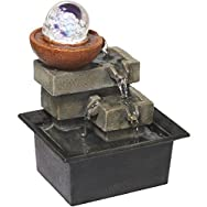 Crystal Ball Tabletop Fountain-CRYSTAL BALL FOUNTAIN