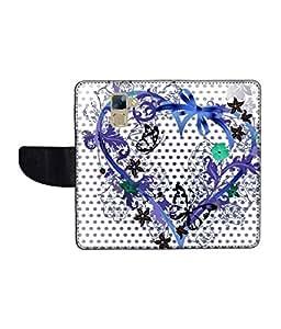 KolorEdge Printed Flip Cover For Huawei Honor 7 Multicolor - (1478-50KeMLogo11577Honor7)