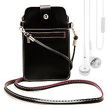 buy 6.5 Inch Universal Pu Leather Shoulder Bag Purse Pouch Wallet Case For Sony Xperia Z4 / Motorola Droid Turbo / Motorola Droid Maxx / Motorola Google Nexus 6 / Motorola Moto E - 2Nd Generation / Motorola Moto X / Motorola Moto G + White Vangoddy Headphone