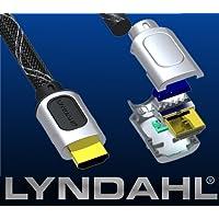 Lyndahl SL-P HDMI Kabel 1.4a Verbindungskabel / Anschlusskabel, Full HD, 4K,1080p, 3D Übertragung + Netzwerk Funktionalität, Ethernet-Kanal, Audiorückkanal (ARC Audio Return Channel) für z.B. Full HD Beamer, DVD/ BlueRay Player in 0,5m bis 20m Länge 0,5m
