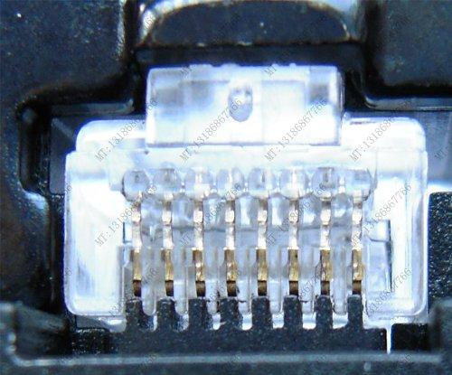 SUNKIT SK-868DR LANコネクタ圧着ペンチ RJ45/RJ11 (8P/6P)かしめ工具 ゴムグリップ ラチェットELECOM型