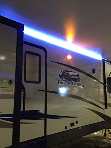 RecPro RV Camper Motorhome Travel Trailer 16' WHITE LED Awning Party Light w/Mounting Channel & White PCB 12v Light (Rv Awning Strip compare prices)