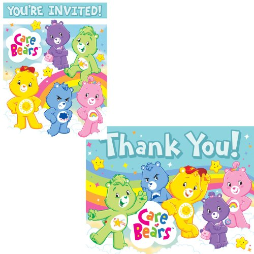 Care Bears Happy Days Invitations/Thank-You Postcards Party Accessory (Care Bears Invitations compare prices)