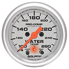 Auto Meter 4354 Ultra-Lite Electric Water Temperature Gauge