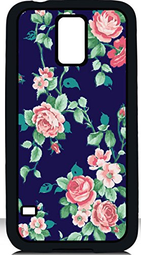 Deal Market Llc -Pretty Floral Samsung Galaxy S5 Case Flower Design Pink Roses Stye Watercolor Design Girly Colorful Phone Cover Protective Case Includes Screen Protector