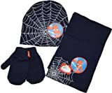 Boys Marvel 3pc Spiderman Hat, Mittens and scarf set