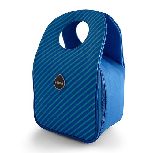 Milkdot Stöh Lunch Tote - Blueberry Stripes