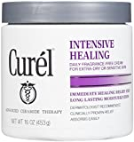 Curel Daily Cream Intensive Healing Fragrance-free - 16 Oz (3 Pack)