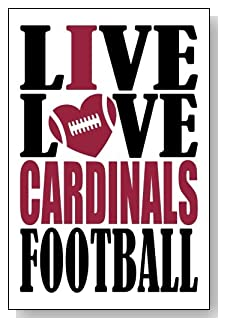 Live Love I Heart Cardinals Football lined journal - any occasion gift idea for Arizona Cardinals fans from WriteDrawDesign.com