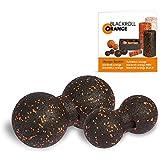 Blackroll Orange (Das Original) DIE Selbstmassagerolle - TwinBALL-orange-Set 8 & 12cm inkl. Übungsbooklet