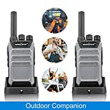 Socotran SC-508 UHF400-470MHZ 16 Channels Two-Way Radio Long Range with Output 2W Grey (Pair Pack) (Color: Grey, Tamaño: small)